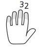 dedos 2 y 3 mano izq.