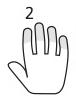 dedo 2 mano dcha.